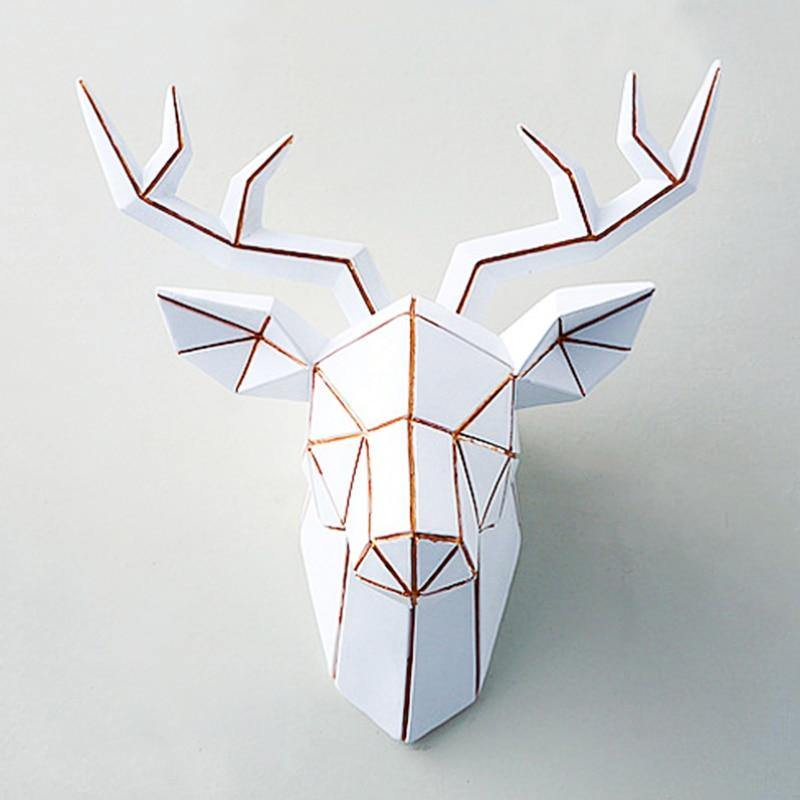 Geometric Stag Head Wall Mount