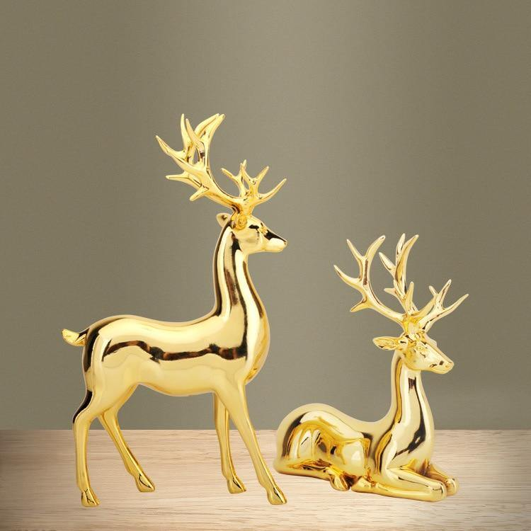 Pair of Deer Table Ornament - Glamorous Hangups Ltd