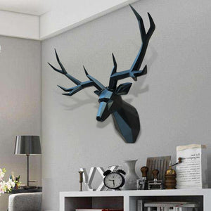 Nordic Stag Head 3D Wall Art - X-LGE - Glamorous Hangups Ltd