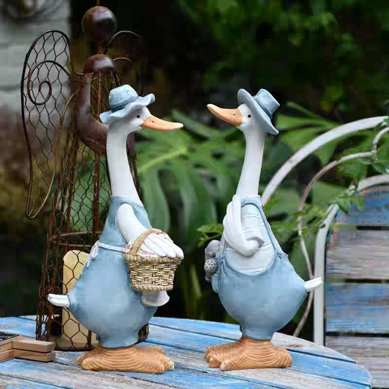 Mr & Mrs Duck Garden Ornaments - Glamorous Hangups Ltd