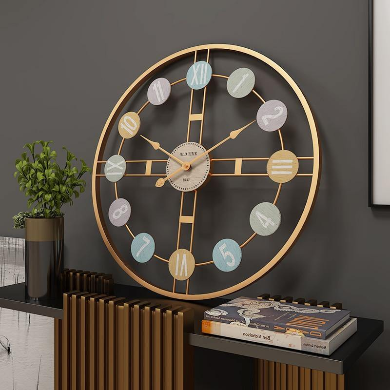 Large Metal Wall Clock - Glamorous Hangups Ltd