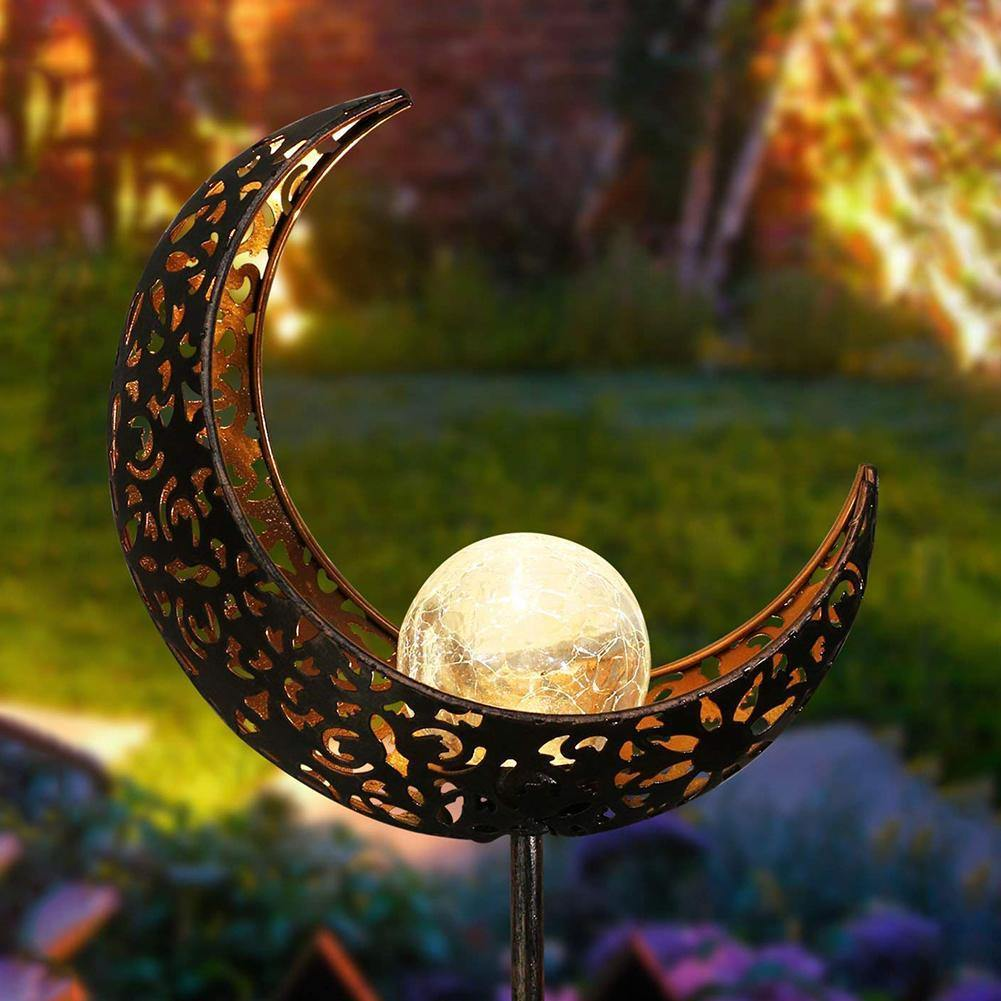 Outdoor LED Solar Powered Moon Lamp - Glamorous Hangups Ltd