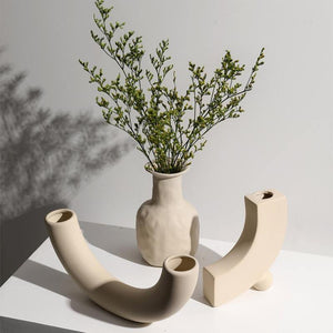 Nordic Surrealist Ceramic Vase & Candle Holder - Glamorous Hangups Ltd