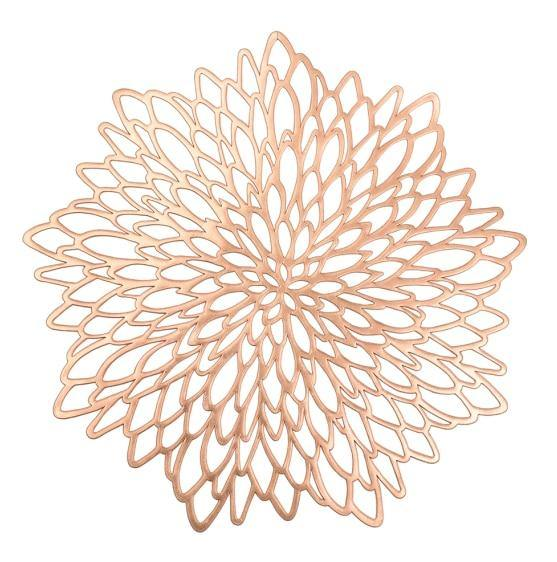 Metallic Flower Placemat - Glamorous Hangups Ltd