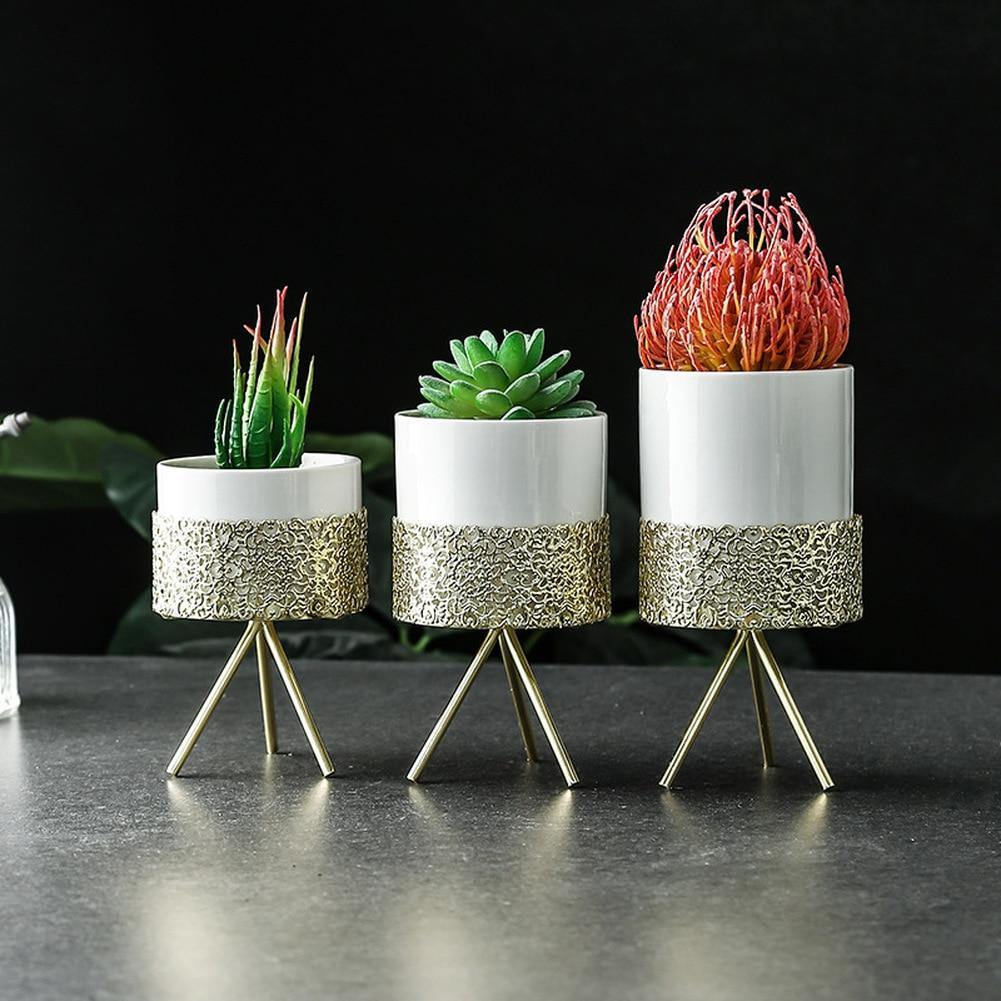 Gold Desk Planter