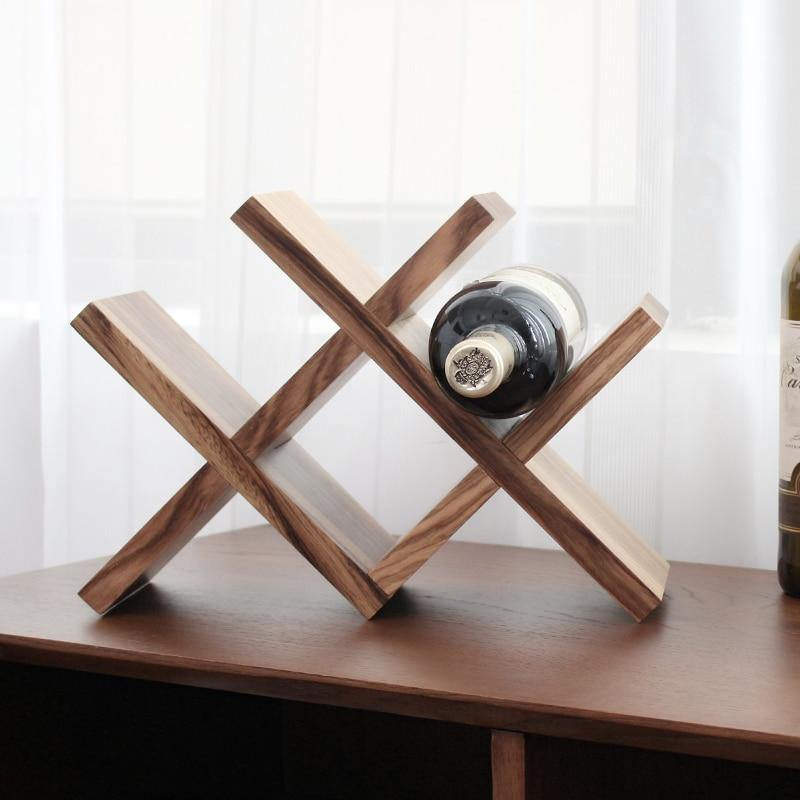 Lattice Wood Wine Storage Rack - Glamorous Hangups Ltd