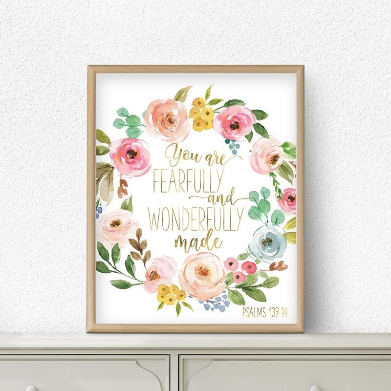 Fearfully and Wonderfully Made Nursery Wall Art - Glamorous Hangups