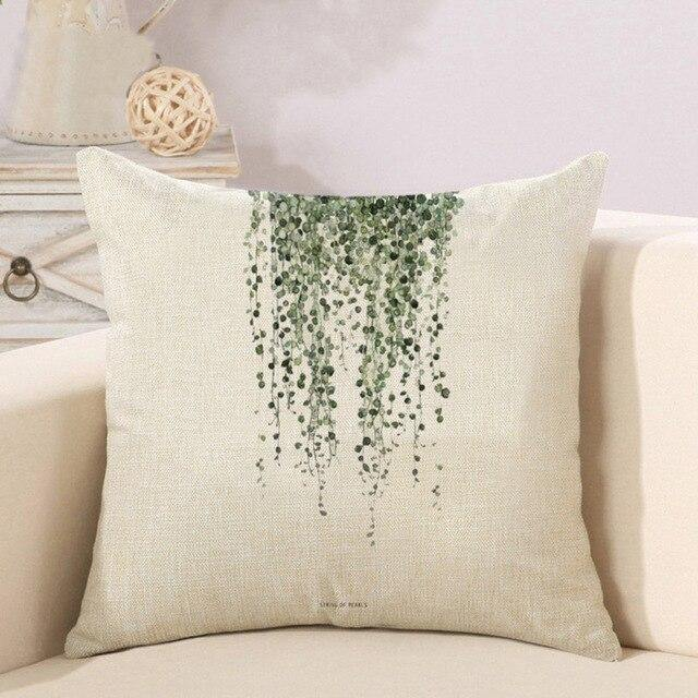 Nordic Leaves Cushion Cover - Glamorous Hangups Ltd