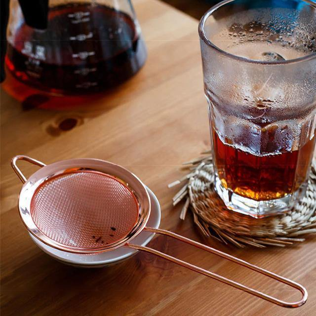 Rose Gold Luxury Stainless Steel Fine Mesh Strainer - Glamorous Hangups Ltd