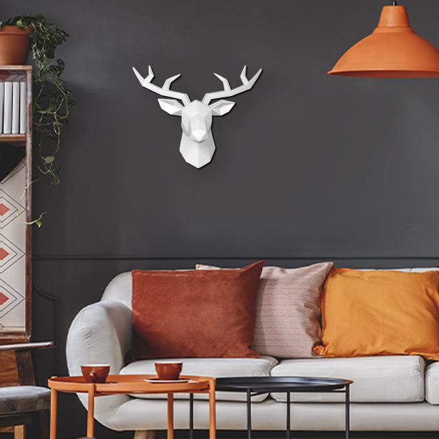 Nordic Stag Head 3D Wall Art - Small - Glamorous Hangups Ltd