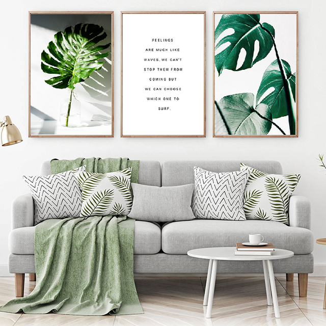 Tropical Leaf and Quote Canvas Wall Art - Glamorous Hangups Ltd