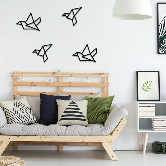 Vapaus Birds In Flight Metal Wall Art - Glamorous Hangups Ltd