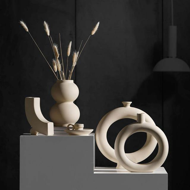 Nordic Surrealist Ceramic Vase & Candle Holder