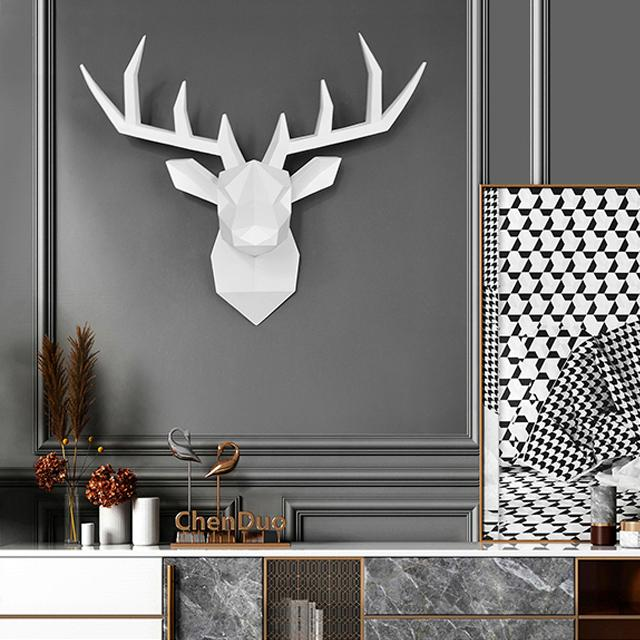 Nordic Stag Head 3D Wall Art - MED - Glamorous Hangups