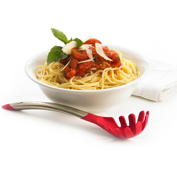 Silicone Spaghetti Server Red 12.25""
