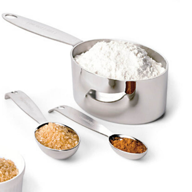 Stainless Steel Measuring Cups and Spoon Set Silver