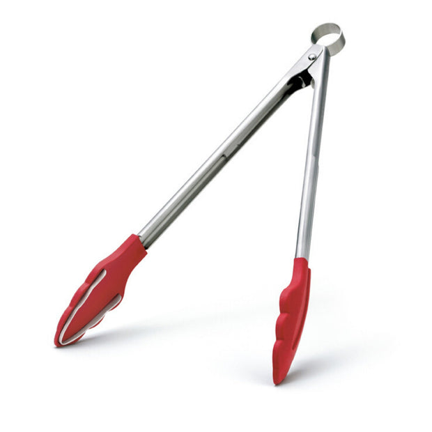 Cuisipro Silicone & Stainless Steel Tongs with Teeth