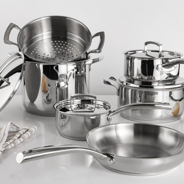 Cuisipro Tempo Stainless Steel Cookware Set_Set of 10