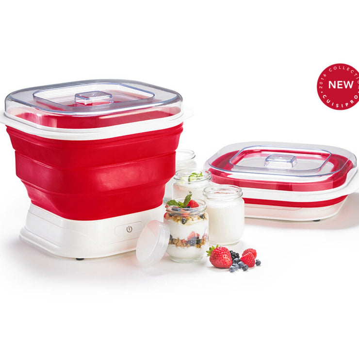 Collapsible Yogurt Maker Red 9.7x11x6""