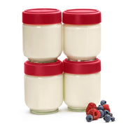 Cuisipro  Red Leak-Proof Glass Jars_Set of 4