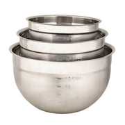 Cuisipro  Silver Stainless Steel Mixing Bowl - Set of 3