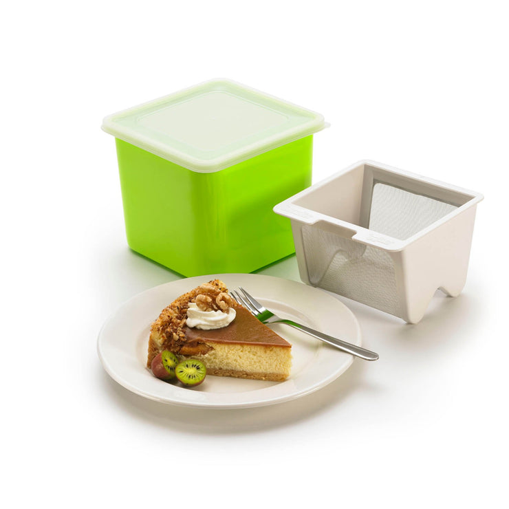 Yogurt Cheese Maker Green 6x5.7""