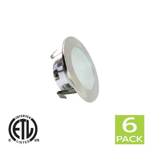 3 Inch Shower Reflector Trim With Frosted Lens For GU10 Light Bulb (Satin Nickel)