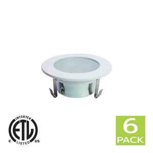 3 Inch Shower Reflector Trim With Frosted Lens For GU10 Light Bulb (White)