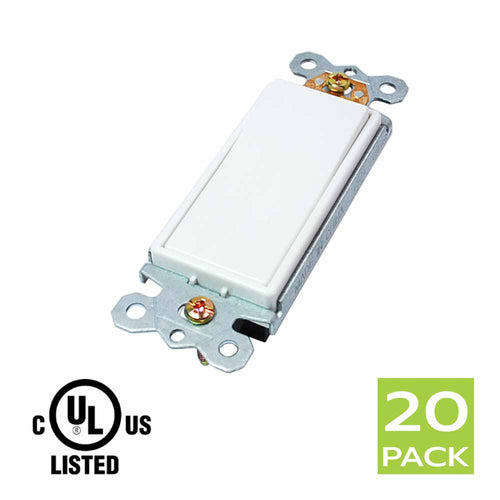Decora 15 Amp Single Pole AC Switch in White