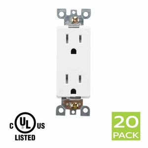 Decora Tamper Resistant Electrical outlet receptacle 15 AMP