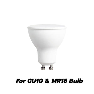 3 Inch Recessed light Trim Gimbal Ring For GU10 Light Bulb (White) 6 Pack