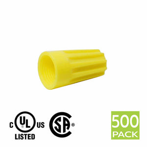Screw on Wire Connector P4 Type Yellow (500 Pack)