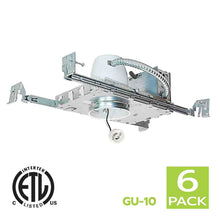 Load image into Gallery viewer, 3 Inch New Construction Recessed Light Housing GU10 Socket
