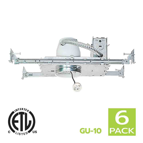 3 Inch New Construction Recessed Light Housing GU10 Socket