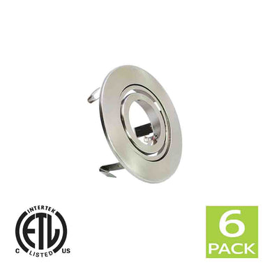 3 Inch Recessed light Trim Gimbal Ring For GU10 Light Bulb (Satin Nickel)