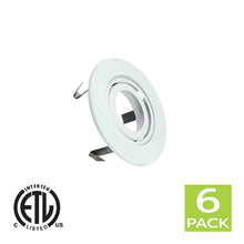 Load image into Gallery viewer, 3 Inch Recessed light Trim Gimbal Ring For GU10 Light Bulb (White)