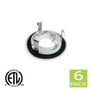 3 Inch Recessed light Trim Gimbal Ring For GU10 Light Bulb (White)