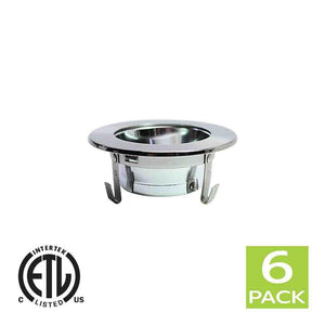 3 Inch Reflector Gimbal Ring Downlight Trim for GU10 Light Bulb (Satin Nickel)