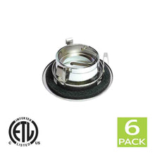 Load image into Gallery viewer, 3 Inch Reflector Gimbal Ring Downlight Trim for GU10 Light Bulb (Satin Nickel)