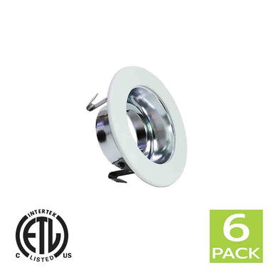 3 Inch Reflector Gimbal Ring Downlight Trim for GU10 Light Bulb (White)