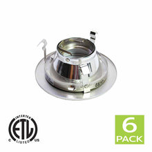 Load image into Gallery viewer, 4 Inch Reflector Downlight Trim Gimbal Ring for GU10 Bulb (Satin Nickel)