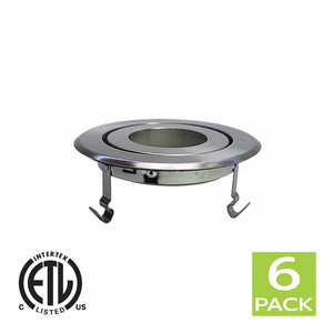 4 Inch Recessed light Trim Gimbal Ring For PAR20 Light Bulb (Satin Nickel)
