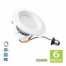 Load image into Gallery viewer, 4 Inch LED Retrofit kit for Recessed Lighting 11W 3000K (Soft White) 6 Pack