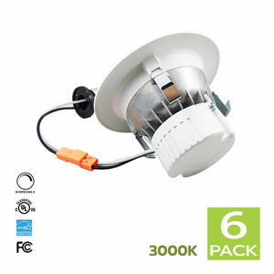 4 Inch LED Retrofit kit for Recessed Lighting 11W 3000K (Soft White) 6 Pack