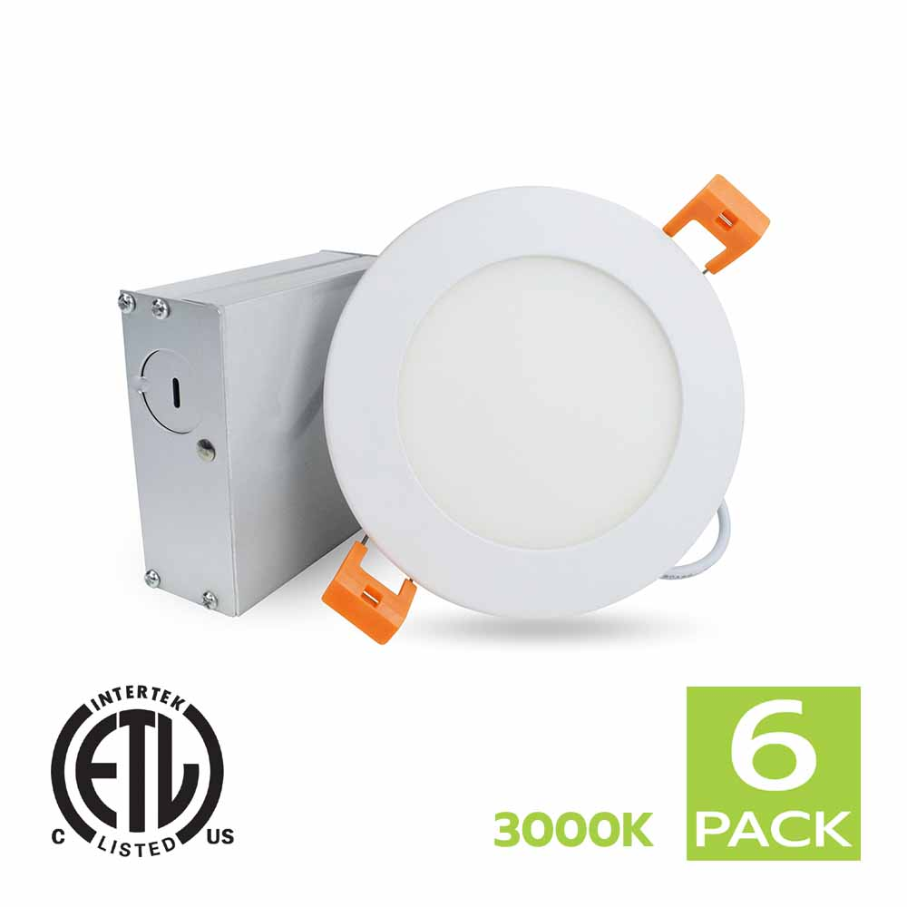 4 Inch LED Slim White Panel Light 3000K (Soft White)