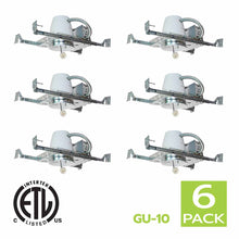 Load image into Gallery viewer, 4 Inch New Construction Recessed Light Housing GU10 Socket (6 Pack)
