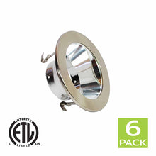 Load image into Gallery viewer, 4 Inch Reflector Gimbal Ring Downlight Trim for PAR20 Light Bulb (Satin Nickel)