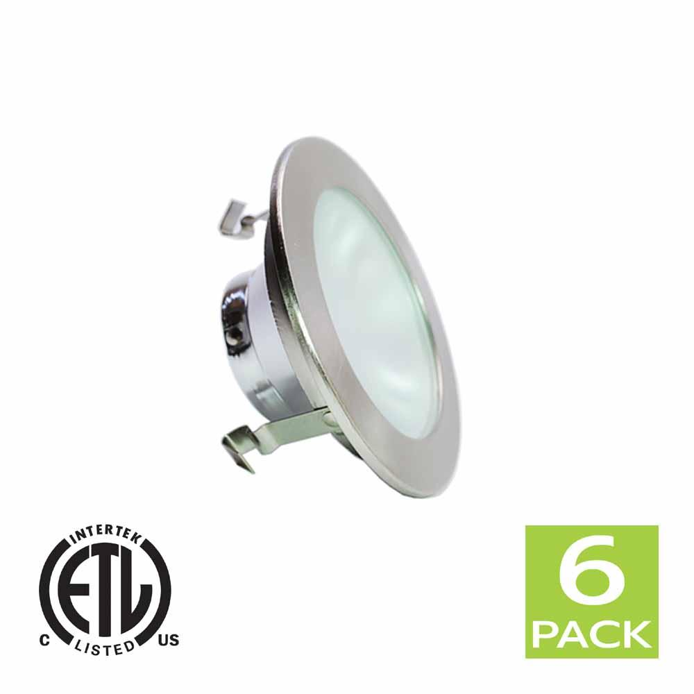 4 Inch Shower Reflector Trim With Frosted Lens For GU10 Bulb (Satin Nickel)