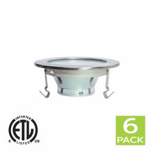 Load image into Gallery viewer, 4 Inch Shower Reflector Trim With Frosted Lens For GU10 Bulb (Satin Nickel)