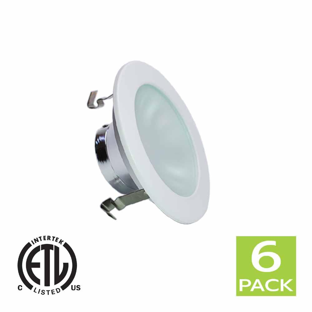 4 Inch Shower Reflector Trim With Frosted Lens For GU10 Bulb (White)